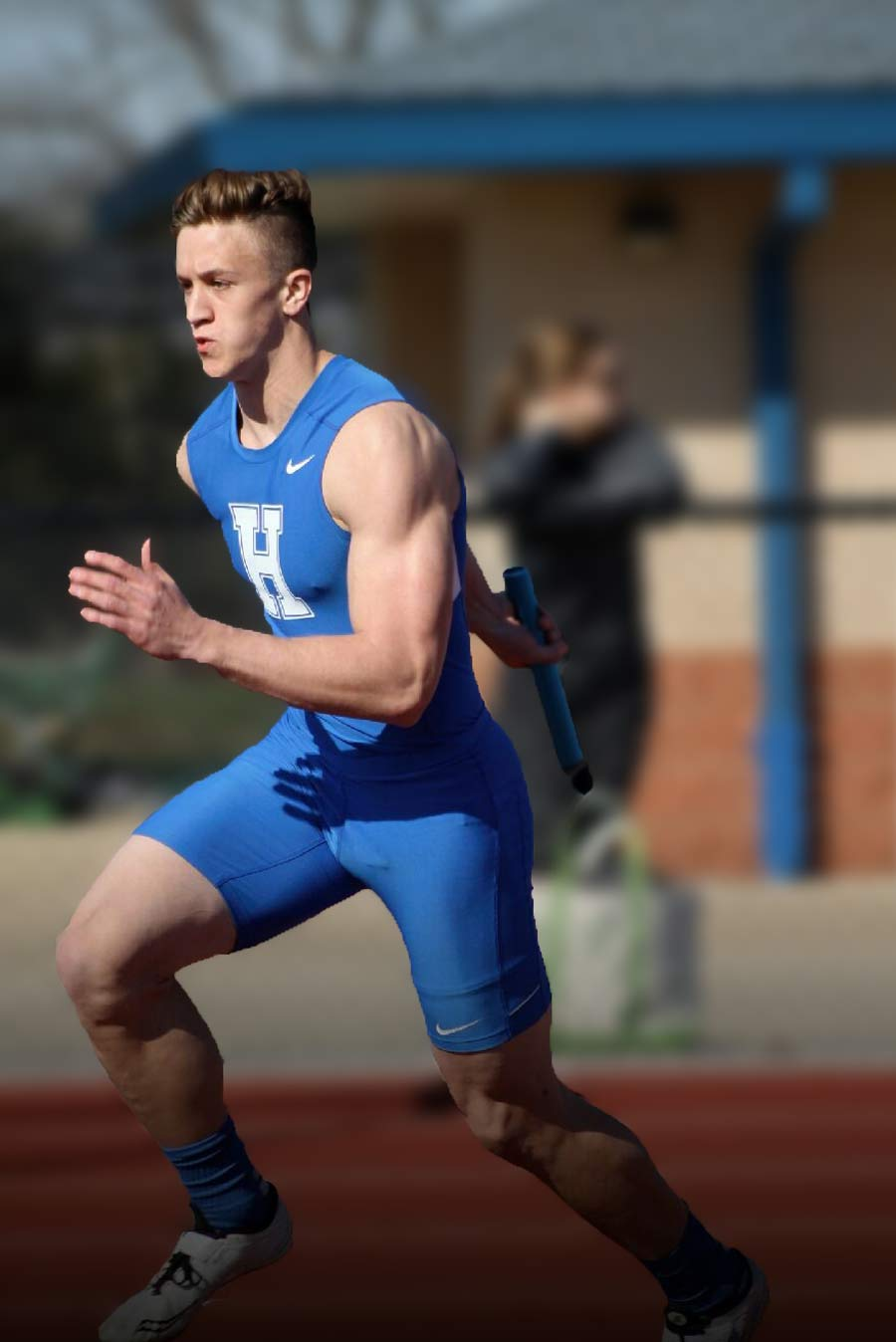 Josef, running at a track meet in March of 2016