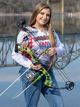 Kaitlyn bow fishing