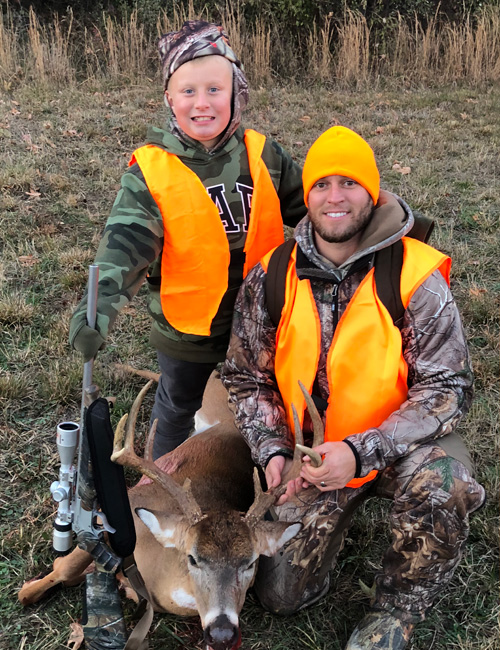 Mike Vipperman and his son deer hunting